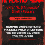 Locandina Poetry Slam Abruzzo_Univ. Chieti Pescara_Maggio2016